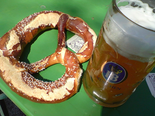 Giant beer & Giant pretzel | by kalleboo