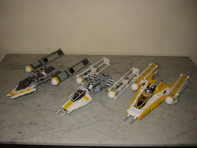 Evolution of the LEGO Y wing 1