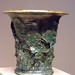 Cup with Grapevine Reliefs Roman from Smyrna Turkey 50-1 BCE Lead-glazed terracotta