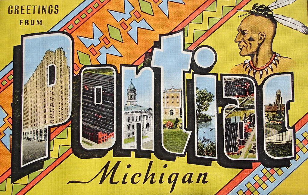 Greetings From Pontiac Michigan Postcard Back Text Quot Key