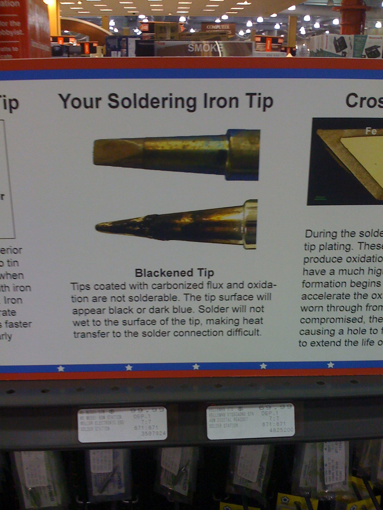 soldering iron tip information and care spotted at fry 39 s e flickr. Black Bedroom Furniture Sets. Home Design Ideas
