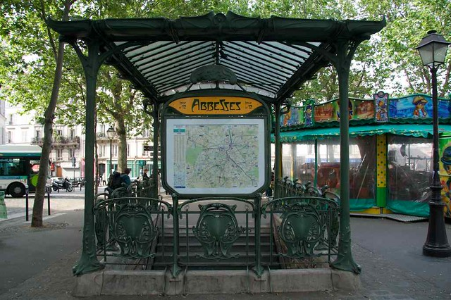 Back side of Abbesses station