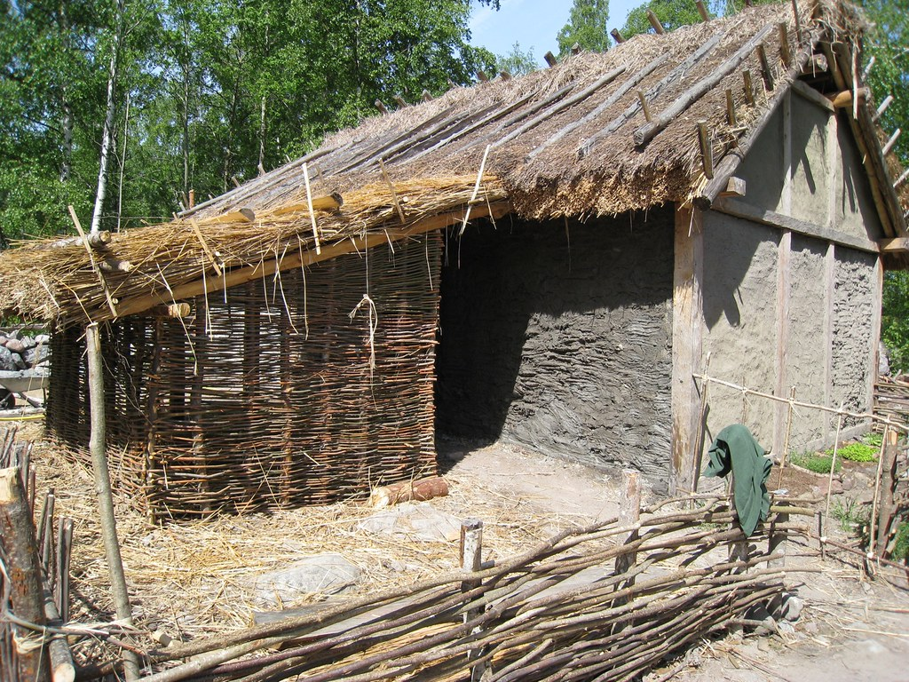 Wattle and daub house. Credit: Catrijn via Flickr