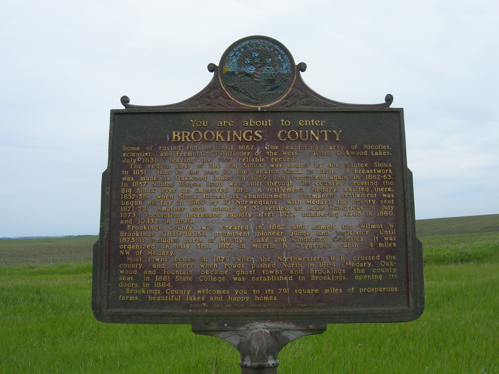 Brookings County Historic Marker Located On Sd Hwy 13 At