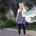 leggings+t-shirt dress+tunic+white leather jacket+pour la victoire wedges+trees-2