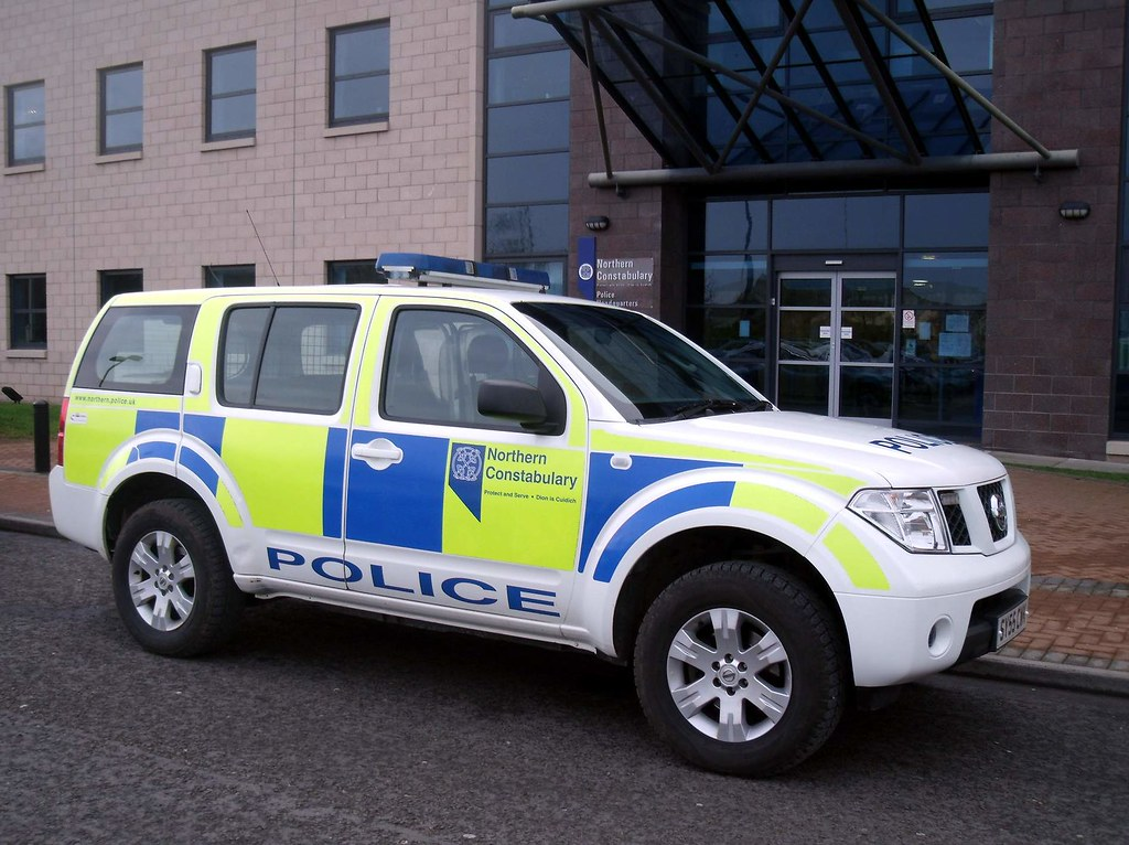 Northern Constabulary Nissan Pathfinder 4x4 At Police Hq