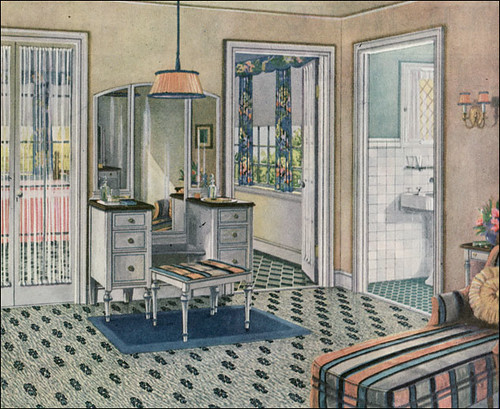 1924 Blabon Art Linoleum Dressing Room Source Ladies