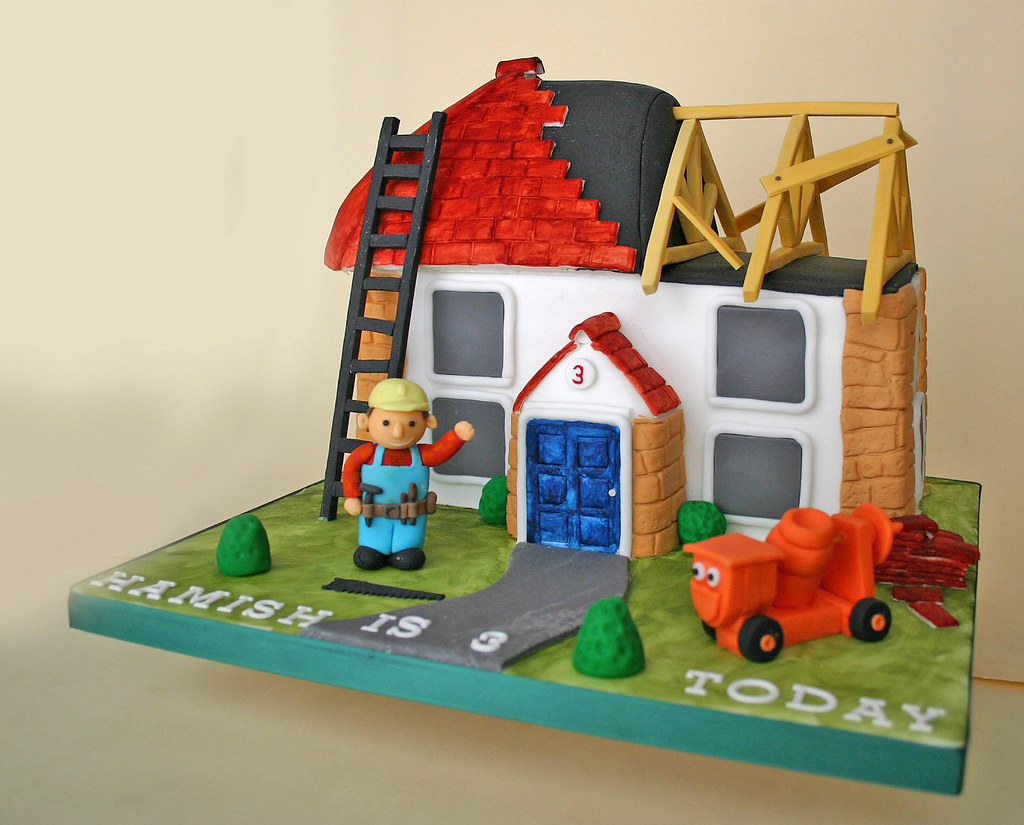 Bob The Builder Birthday Cake Design