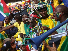 Fans cheering at the opening of the FIFA Confederations Cup 2009 | by Shine 2010 - 2010 World Cup good news