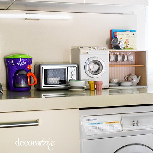 Mini cocina en la encimera para gente menuda si tienes - Tipos de encimeras para cocina ...