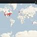 Worldwide Twitter friends map