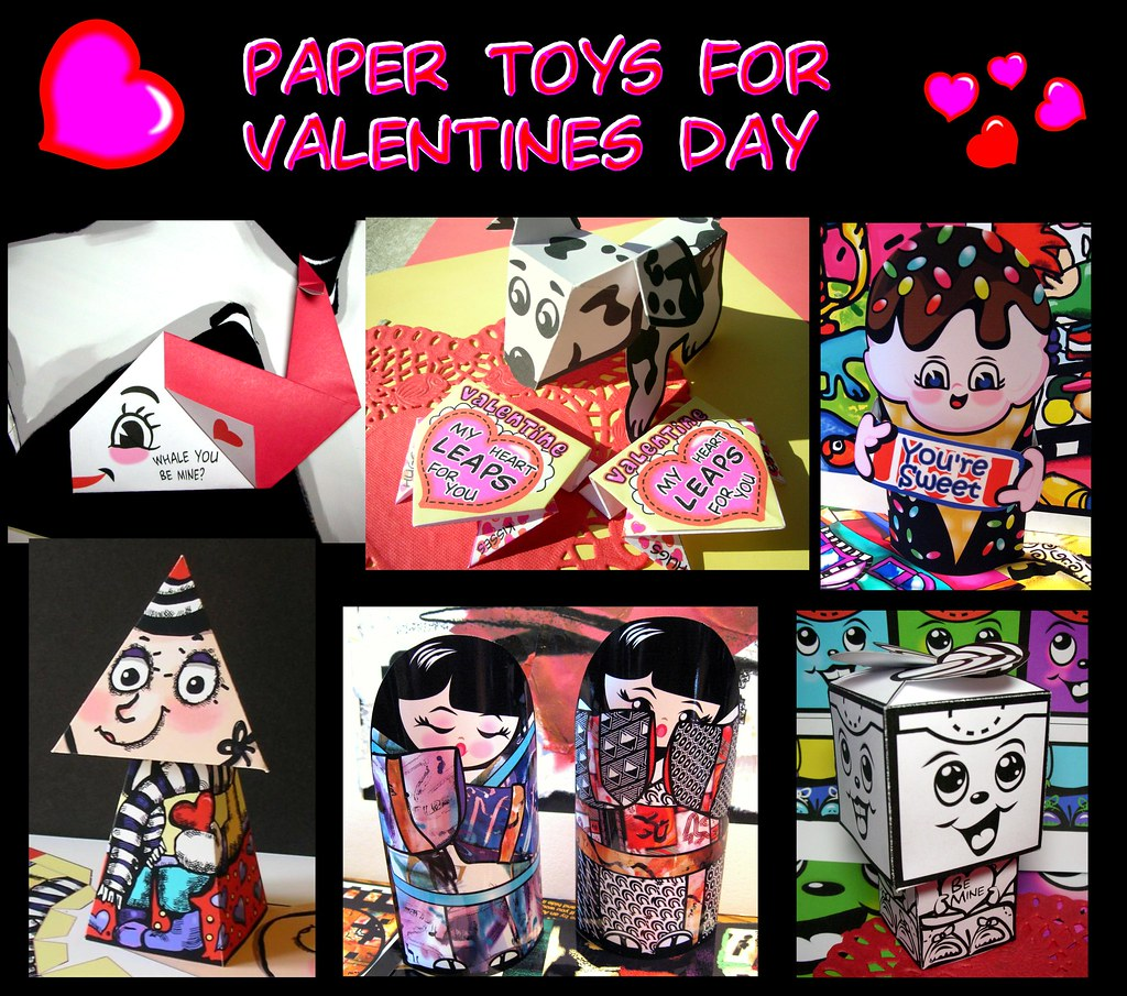 Toys For Valentines Day : Paper toys to make for valentines day valentine s is