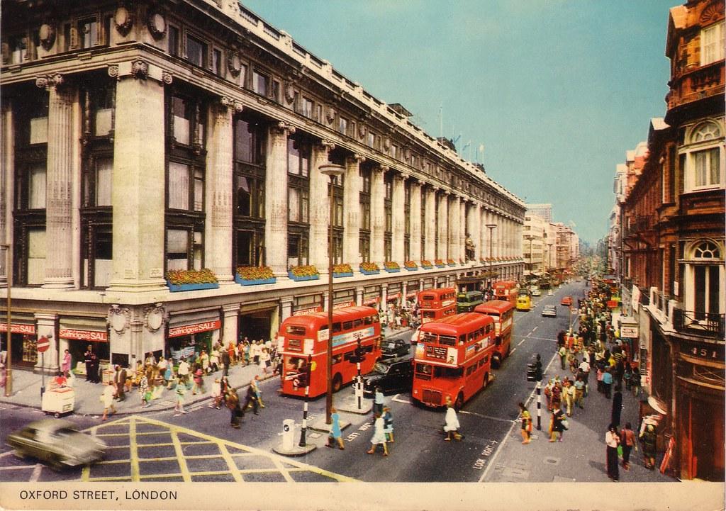 Londres London Oxford Street 1974 PT1016