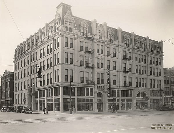 Carey Hotel Wichita Ks This Is A Photo From About 1937