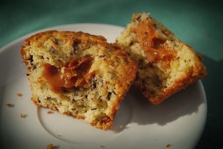 pb & dulce de leche muffins   peanut butter + dulce de ...