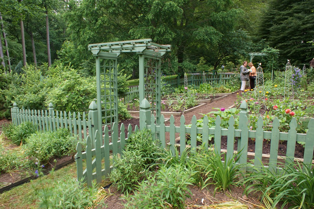 Vegetable garden with green picket fence karl gercens flickr - Decorative vegetable garden ideas stylish green ...