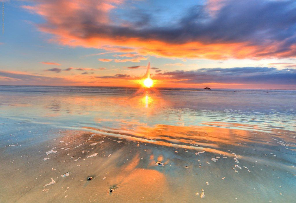 Oregon Beach February Sunset