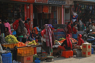 Storefront and vendors in Kaski | by World Bank Photo Collection