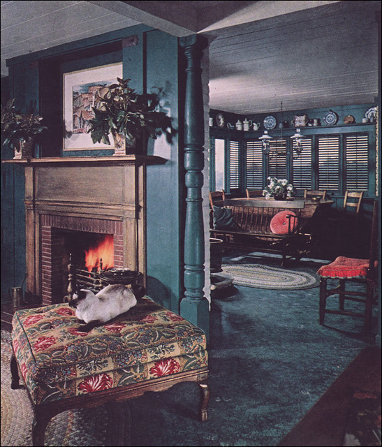 1952 color for colonial interior 4 this was part of an for Early american decorating style
