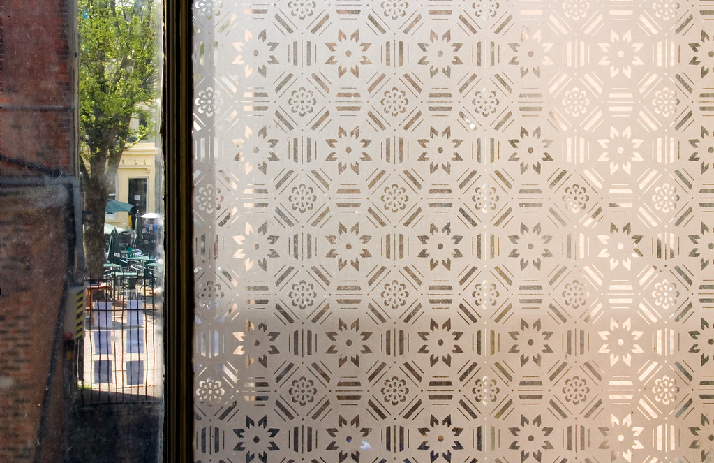 etched frosted glass window