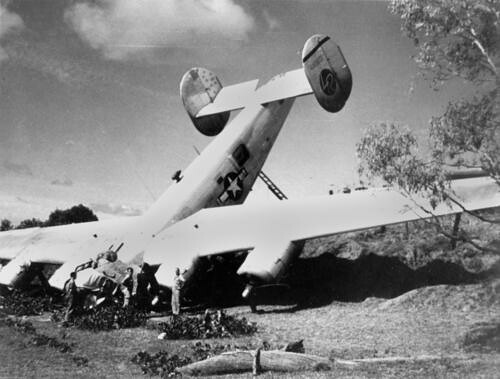 Crash of Troop Carrier U.S. Liberator | by State Library of Queensland, Australia