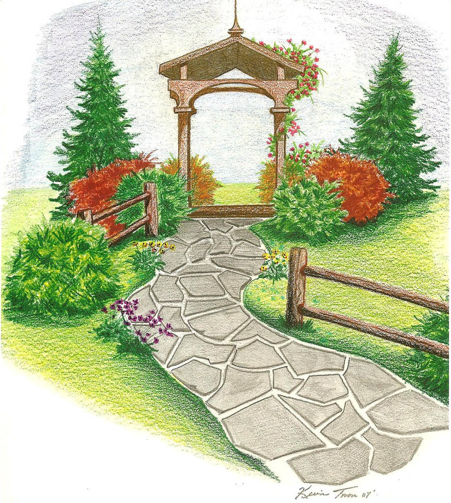 Garden drawing pictures - Garden Drawing Stock Photos And Pictures Getty Images