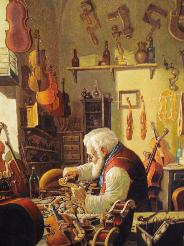 The Old Violin Maker In His Workshop Www Msoe Edu