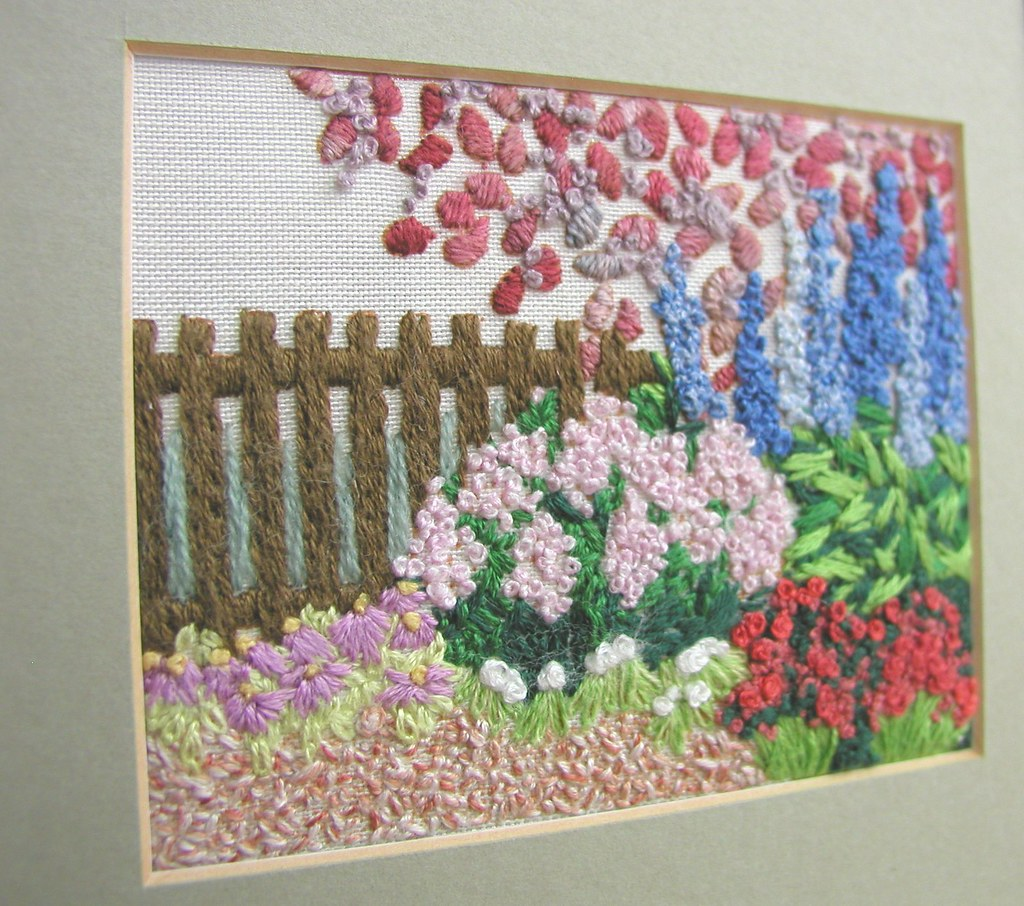 Garden embroidery fence detail my mum s
