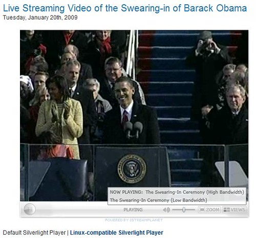 Live Stream of President Barack Obama Inauguration | by mobileme
