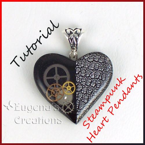 Tutorial, Steampunk Heart Pendants, Polymer clay, Resin, a…   Flickr