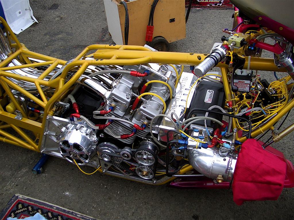 Kawasaki Drag Bike Engine