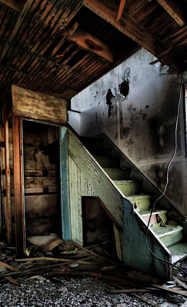 Abandoned Farm House Stairway, Wyoming
