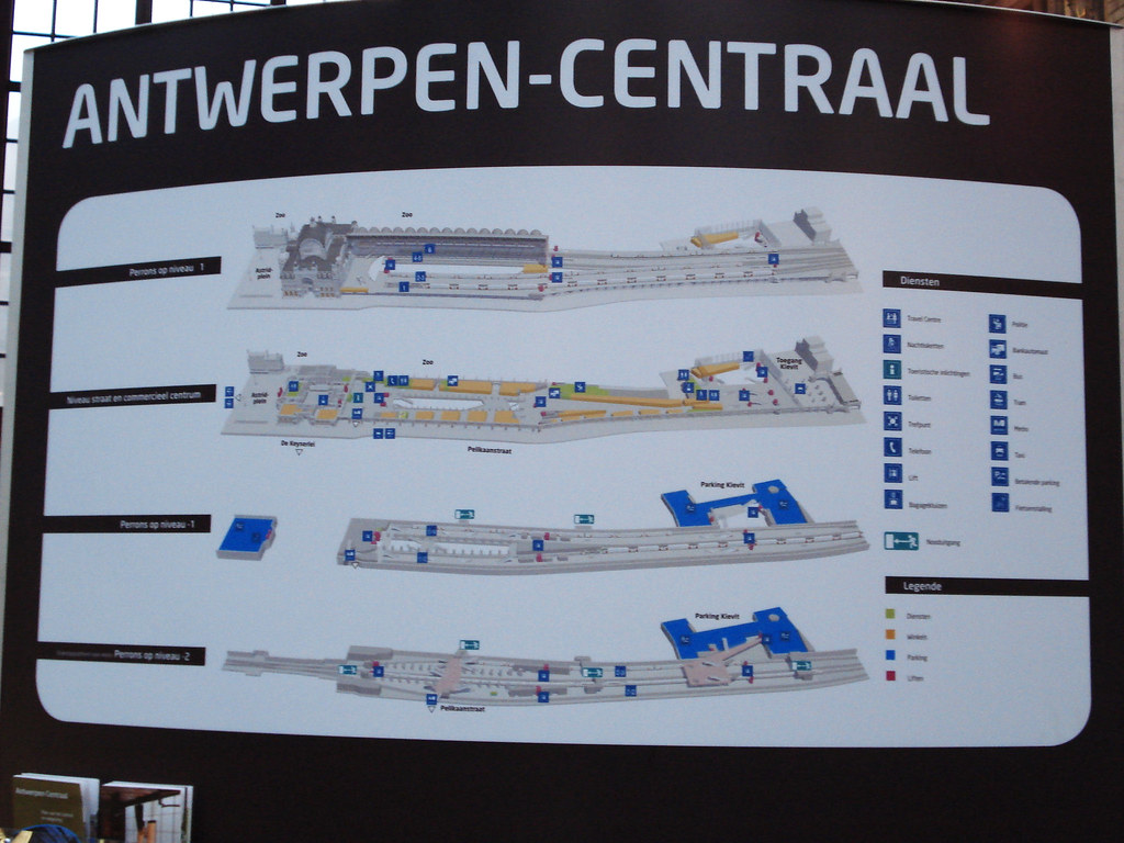 Map Of Antwerp Central Station The Map Of The Station