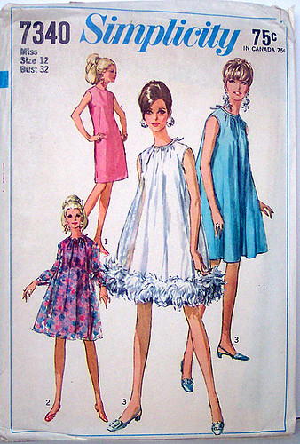 simplicity 7340 vintage 60s sewing pattern fabulous tent