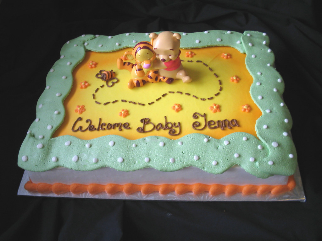 How To Decorate A Baby Shower Sheet Cake