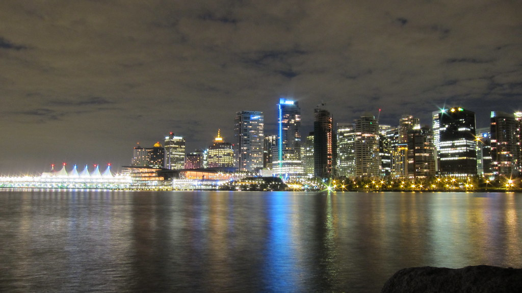 Vancouver Nightscape | Beautiful Downtown Vancouver at ...