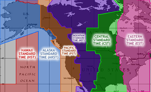 US Timezones | I traveled a lot between parents when I was y… | Flickr