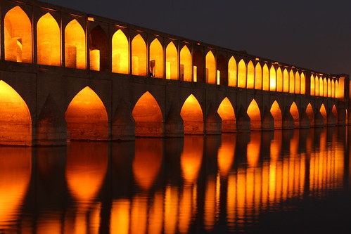 The Si-o-seh Bridge at Esfahan, Iran | by Rowan Castle