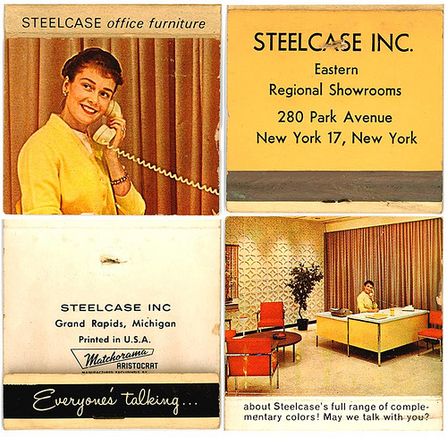 steelcase desk ad on matchbook | by lavardera