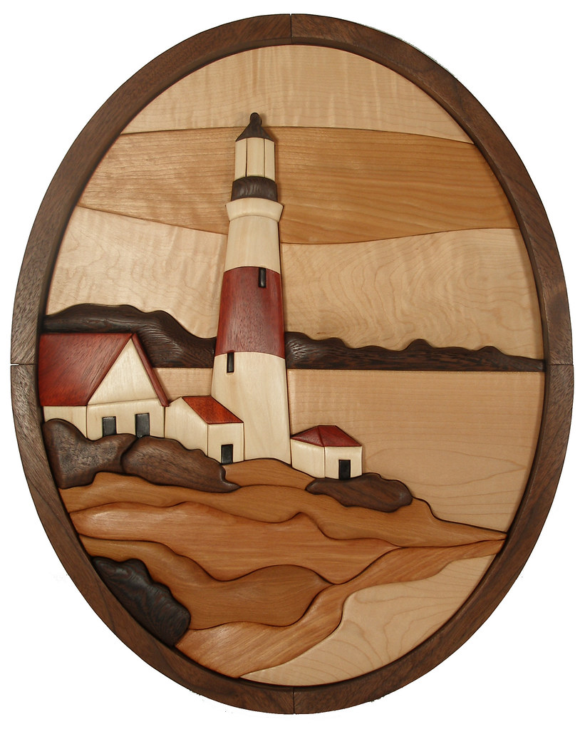 Intarsia Lighthouse | Intarsia Pattern and piece designed an ...