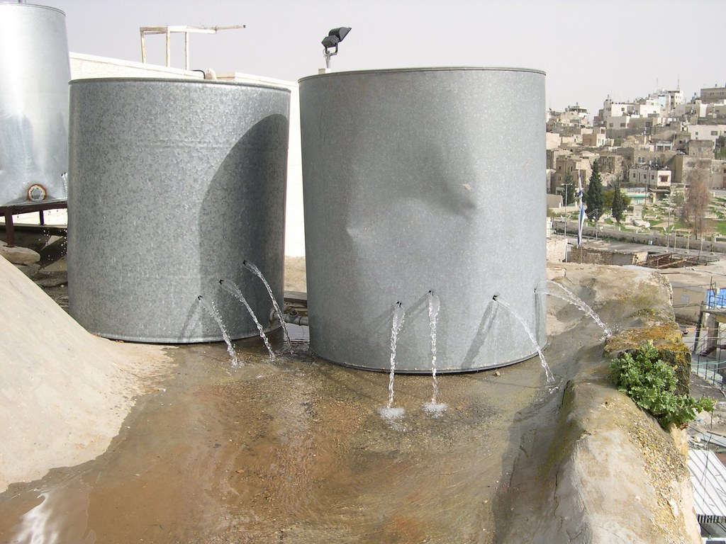 Palestinian water tanks destroyed by settlers in Hebron | by ISM Palestine