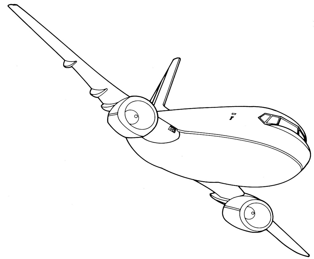Line Drawing Jet : How to draw aeroplane slide pin drawn airplane sketch