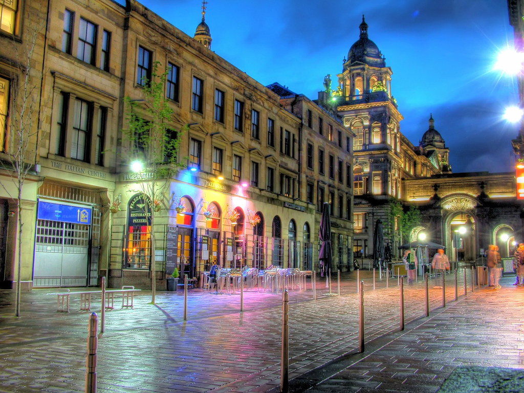 Glasgow's Merchant City By Night After Rain Shower | Flickr