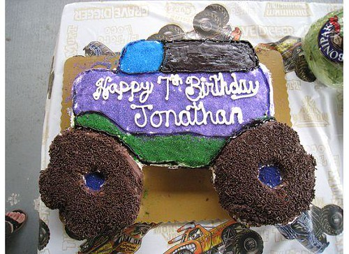 Johnny S Monster Truck Cake This Is A Homemade Pull