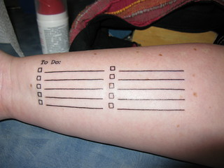 "My ""To Do"" List: Yay for functional tattoos! 