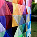'Shattered rainbow' quilt top (2)