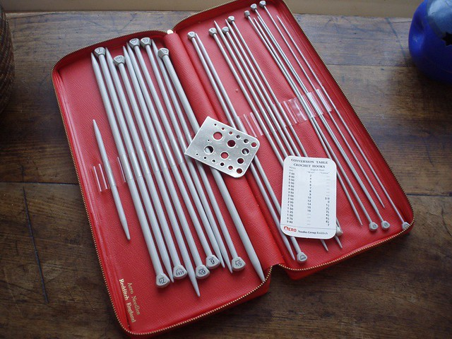 aero knitting needle set again given to me by stevens