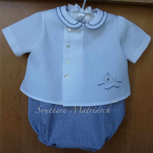 Wally romper and diaper shirt