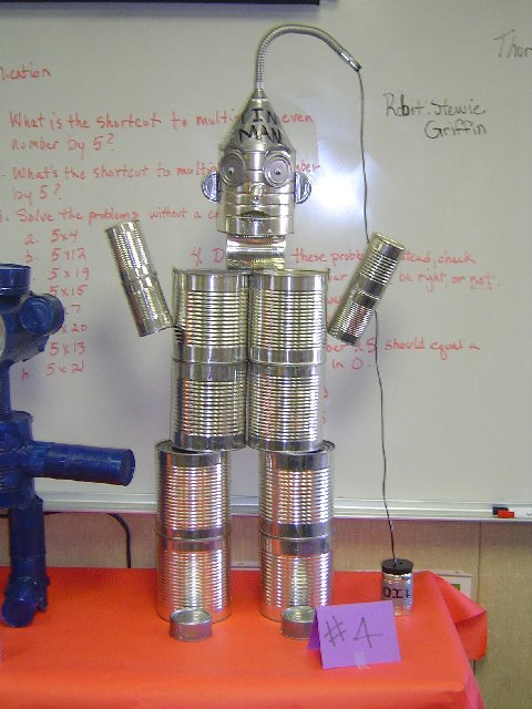 Tin can man 02 the tin can man project was carried out for How to make a tin man out of cans