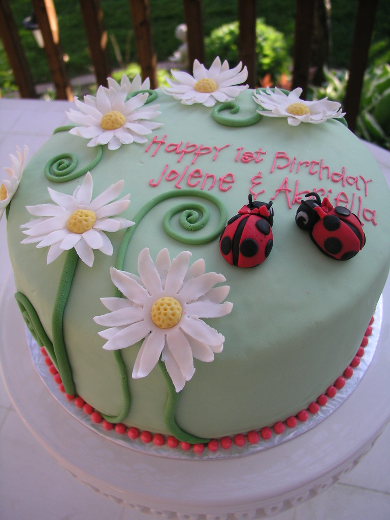 Garden Themed Birthday Cake April Flickr